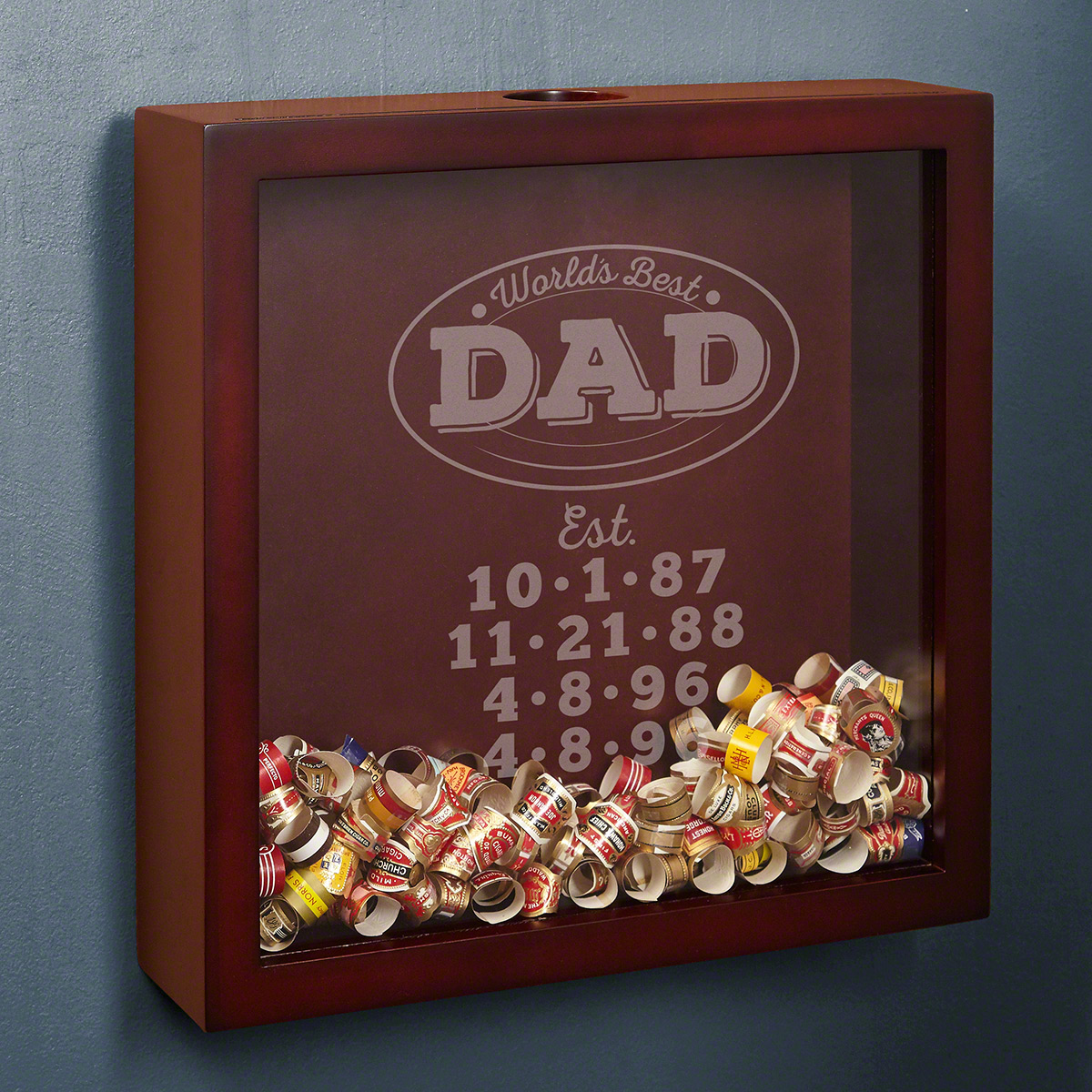 World's Best Dad Personalized Shadow Box Dad Gift from Daughter or Son