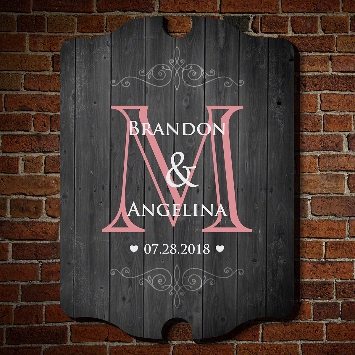 It Takes Two Personalized Wooden Sign