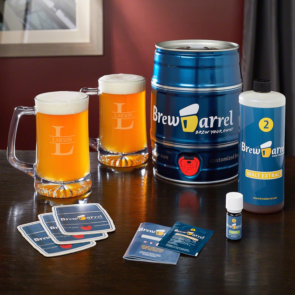 Oakmont Engraved Mugs and Home Brew Starter Kit