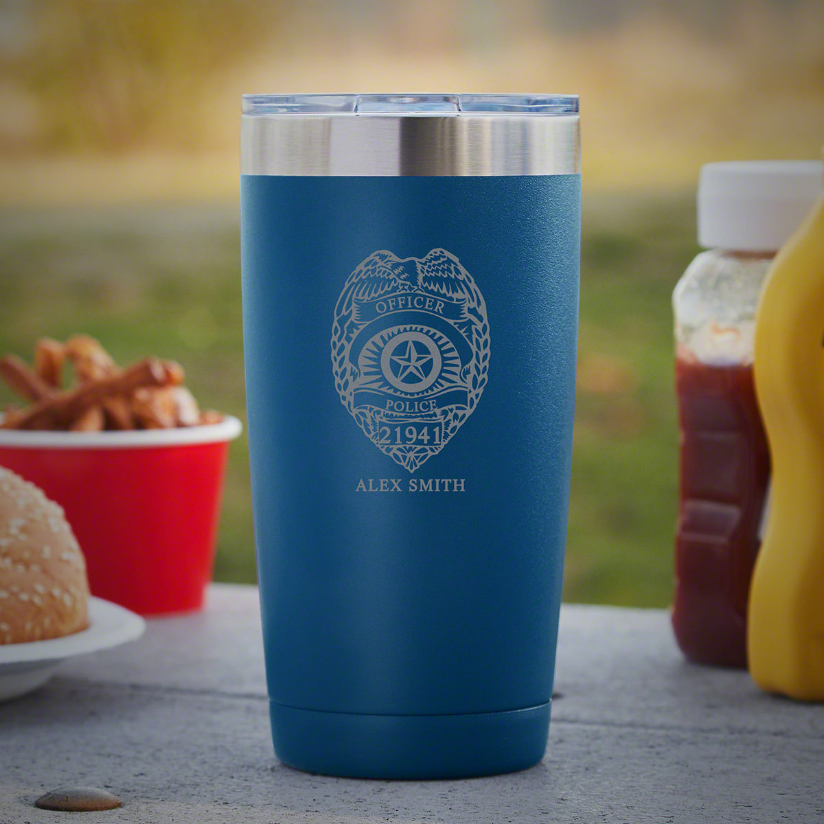 Police Badge 20 oz Custom Tumbler for Officers