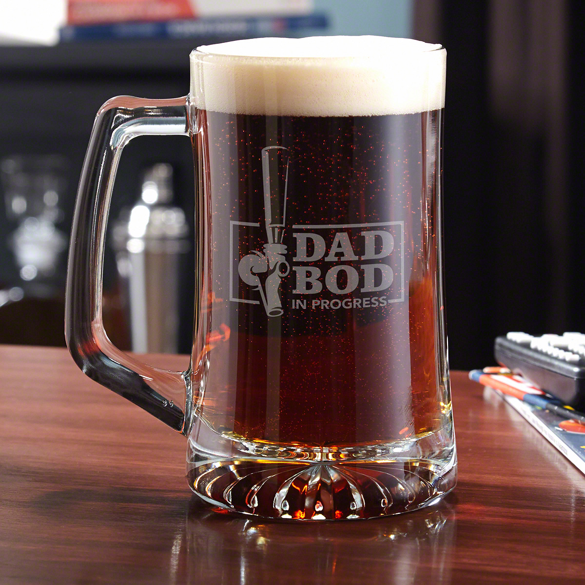 The Dad Bod Funny Beer Stein Gift for Dads