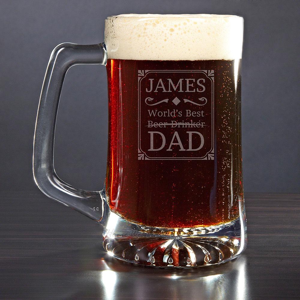 Best Dad Award Custom Beer Mug Gift