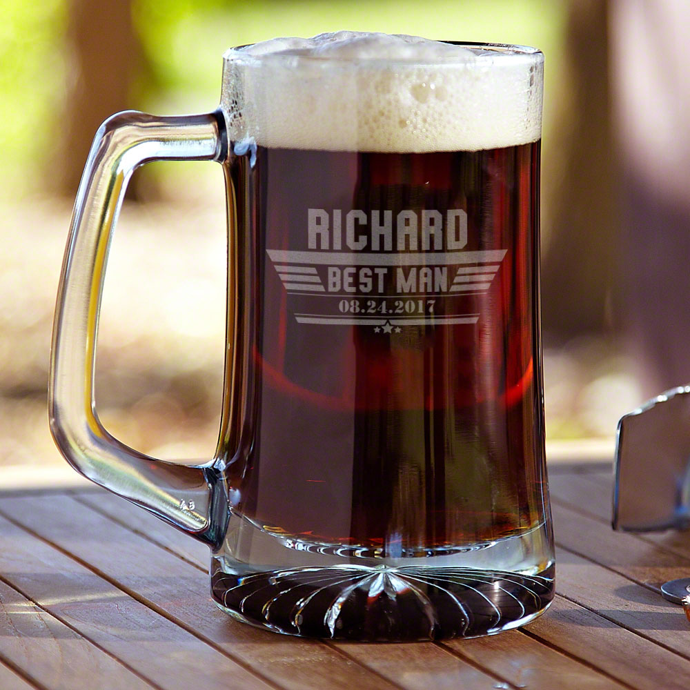 If you feel at home in the sky, and are inspired by the skill of aviation then our Maverick custom glass beer mug is for you. Crafted from thick and durable glass, each mug is built to last and features a starburst base and sturdy handle. To complete this #mug