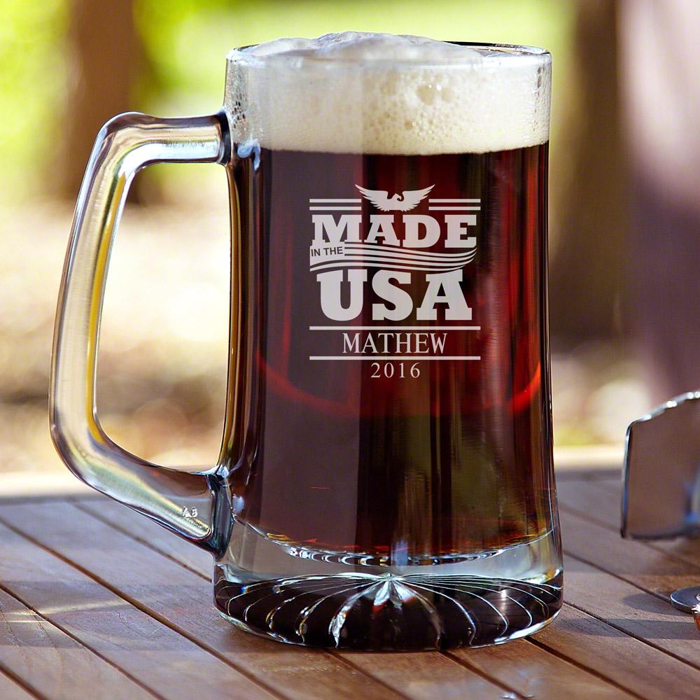 USA Made Personalized Beer Mug