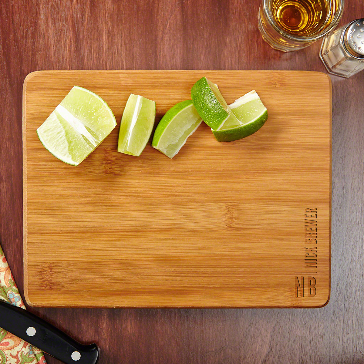 Calvin Custom Made Etched Bamboo Cutting Board