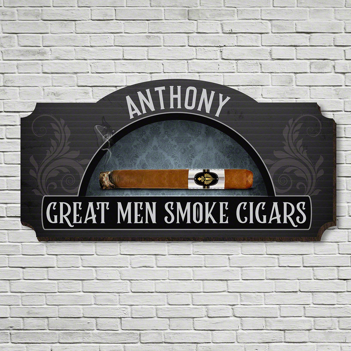 Time Honored Tradition Custom Cigar Sign