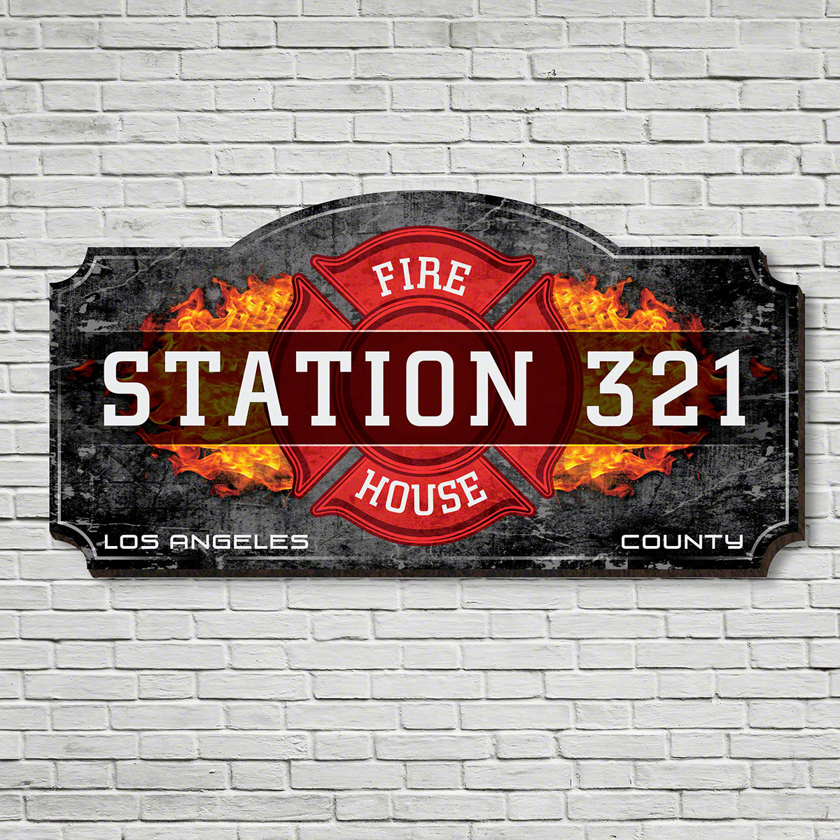 Firehouse Customized Wooden Sign for Firefighters