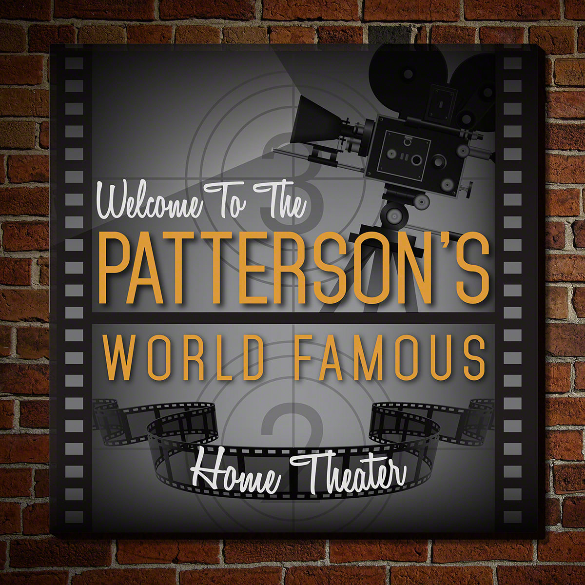 World Famous Classic Home Theater Customized Wooden Sign