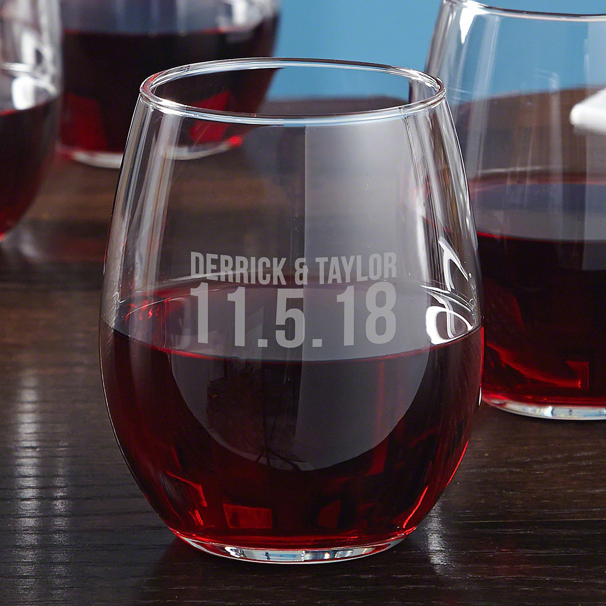 Better Together Personalized Anniversary Wine Glass