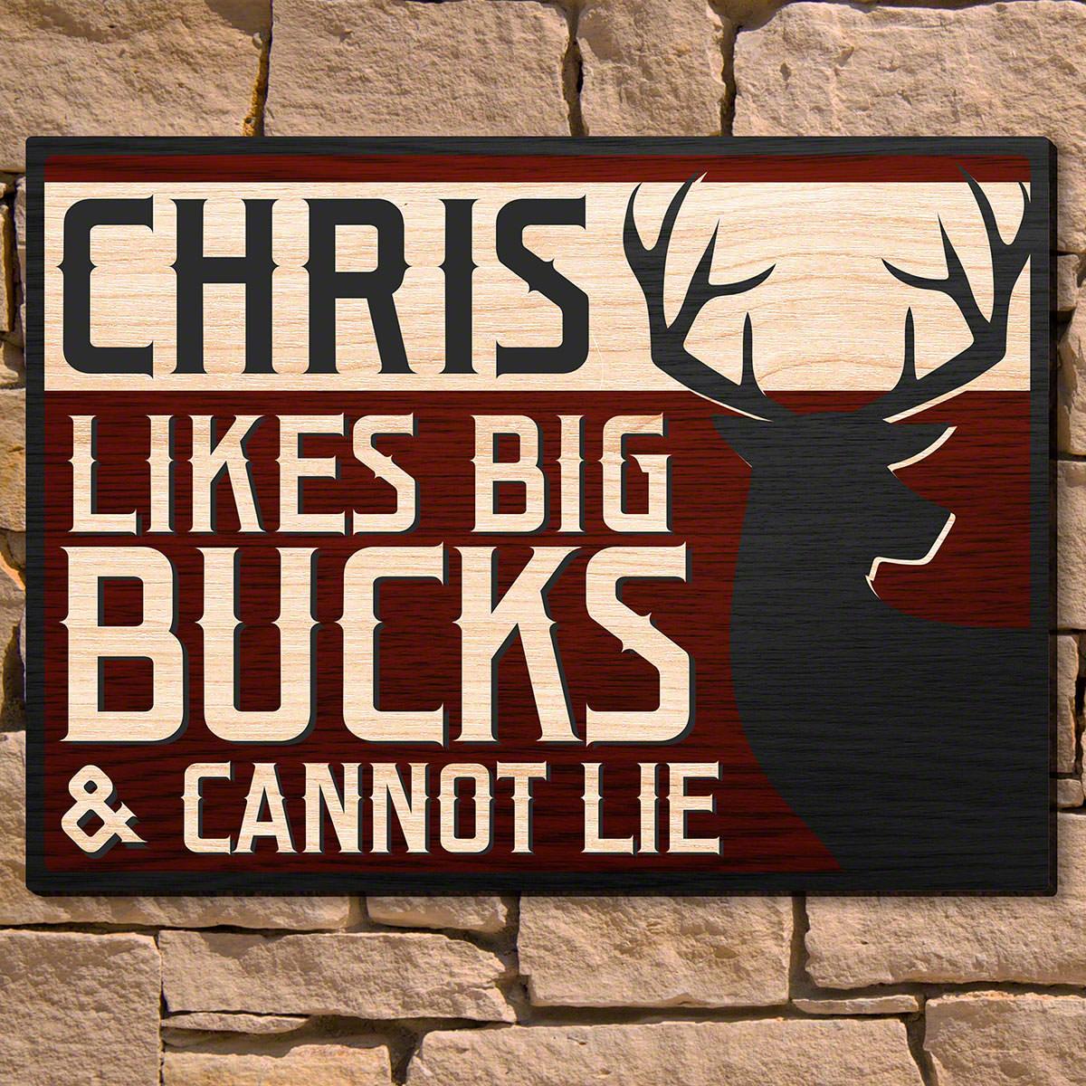 Loves-Big-Bucks-Personalized-Wooden-Wall-Art