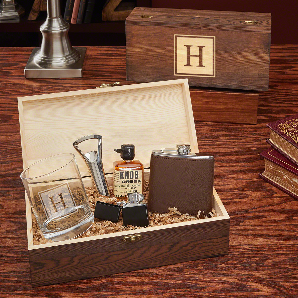 All the Vices Custom Block Monogram Gift Box for Men