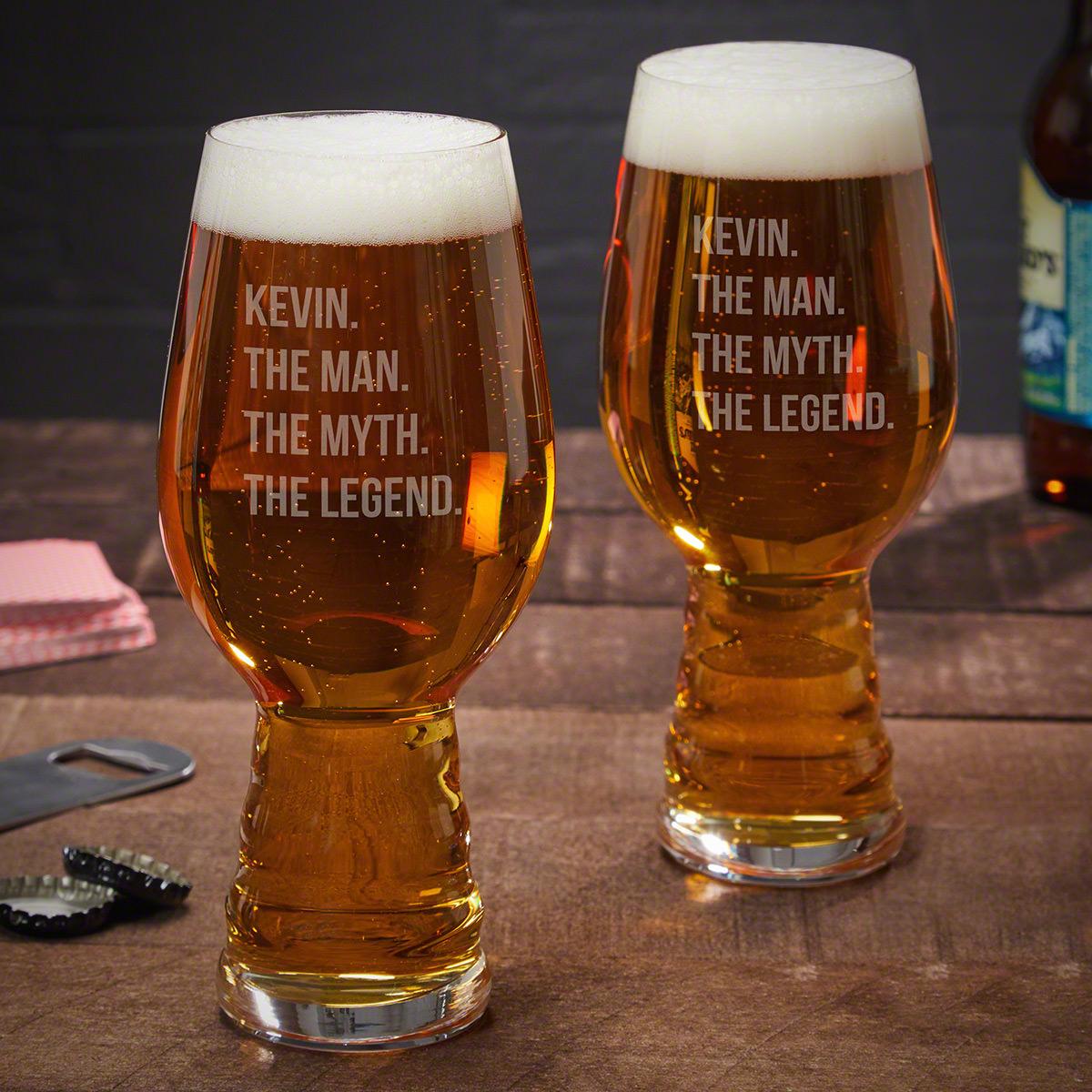 Man Myth Legend Custom Spiegelau IPA Glass, Set of 2