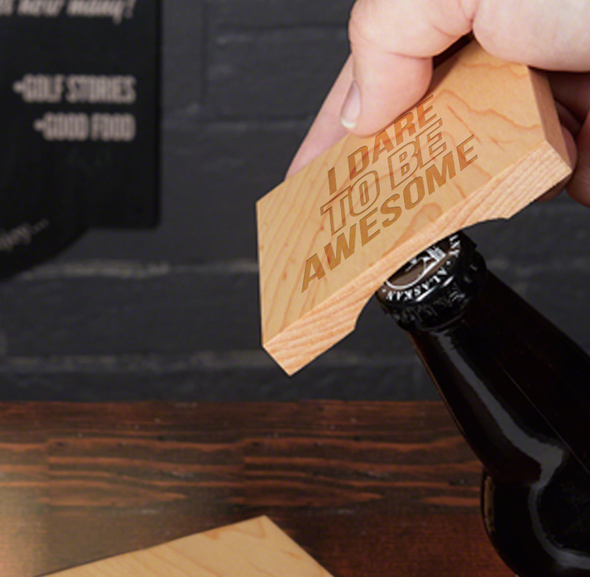 FREE GIFT - NO CHARGE  - Bottle Opener Coaster (Limit One)