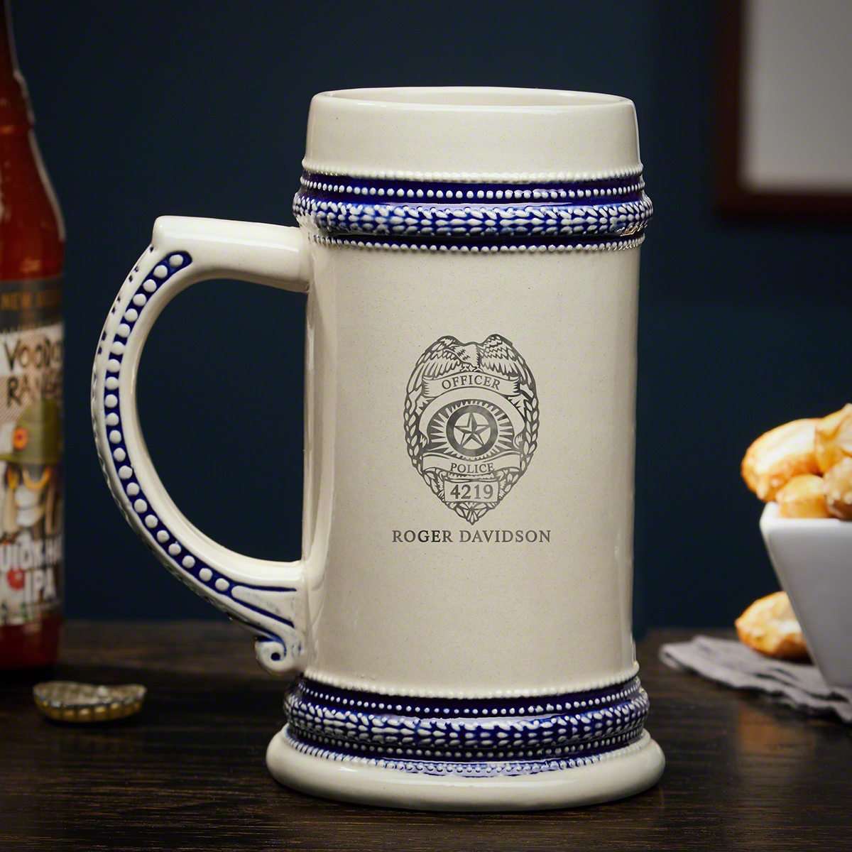 Police Badge Custom Beer Stein – Gift for Law Enforcement