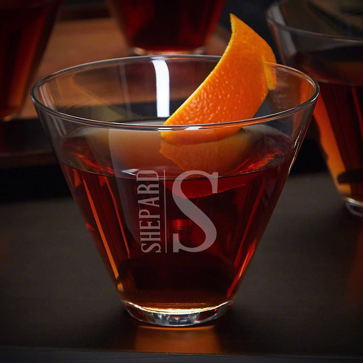 Elton-Custom-Stemless-Martini-Glass