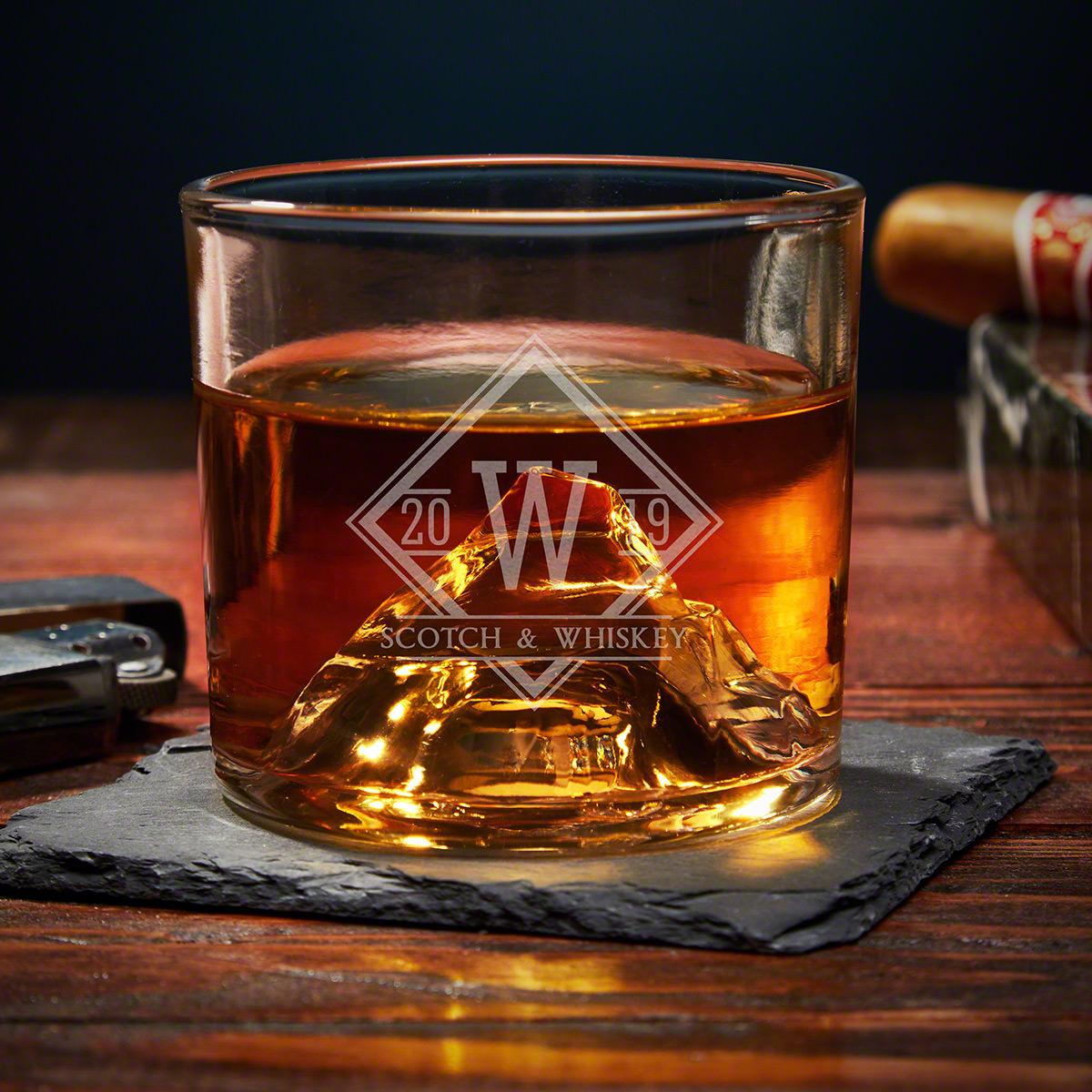 Drake Custom Matterhorn Unique Whiskey Glass