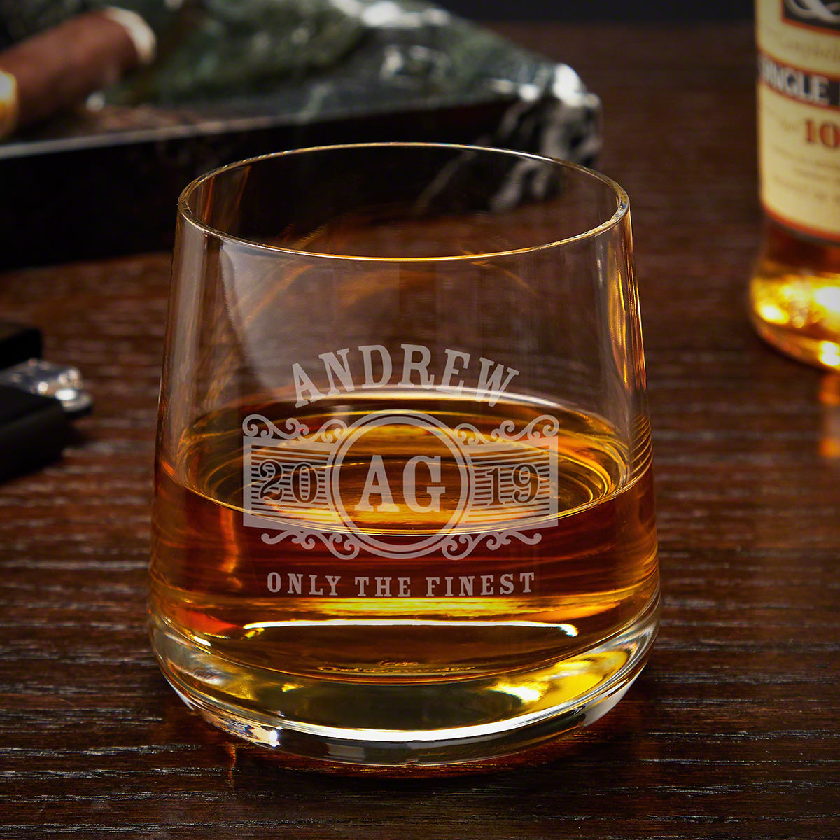 Marquee Custom Benson Whiskey Rocks Glass