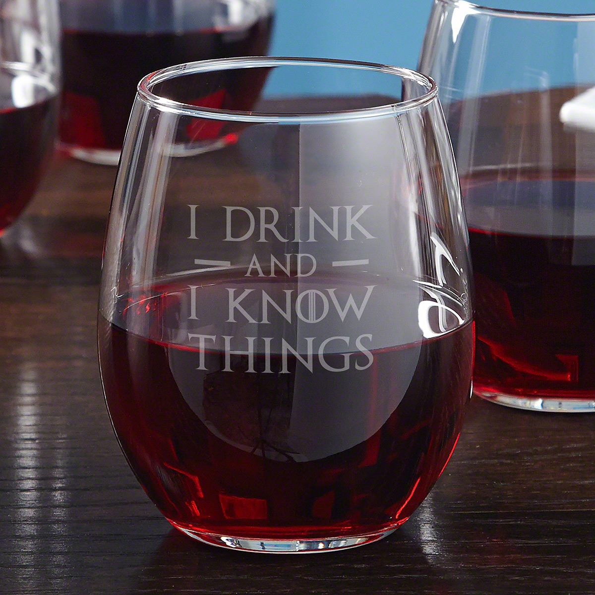 I-Drink-And-I-Know-Things-Stemless-Wine-Glass