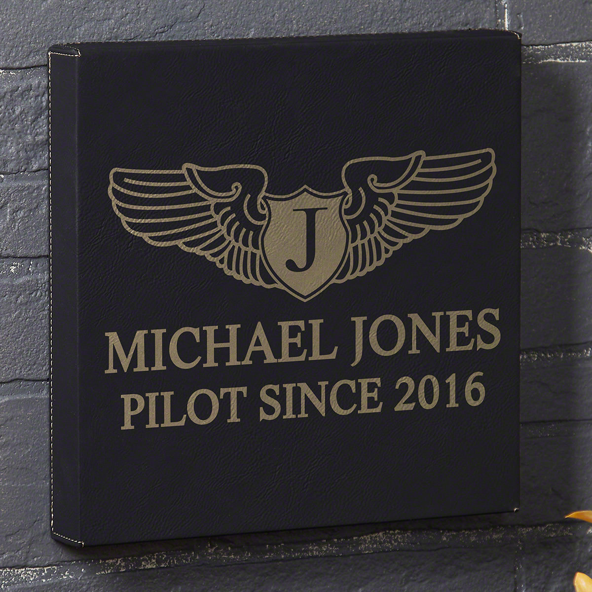 Take-Flight-Personalized-Black-Leatherette-Canvas-Gift-for-Pilots