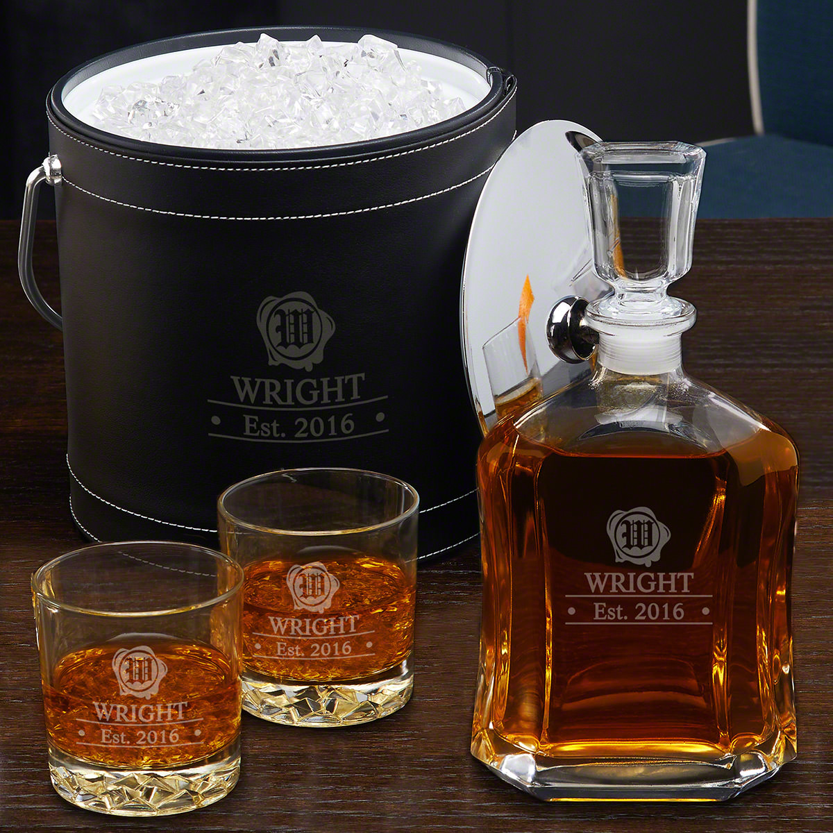 Wax-Seal-Custom-Ice-Bucket-Whiskey-Gift-Set