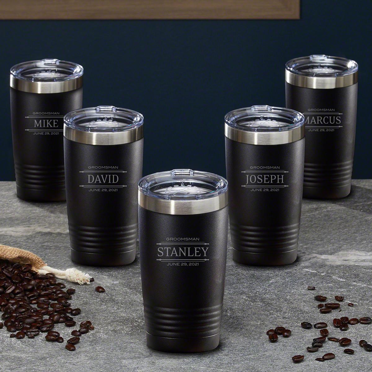 Stanford Custom Coffee Tumblers, Set of 5 – Gift for Groomsmen