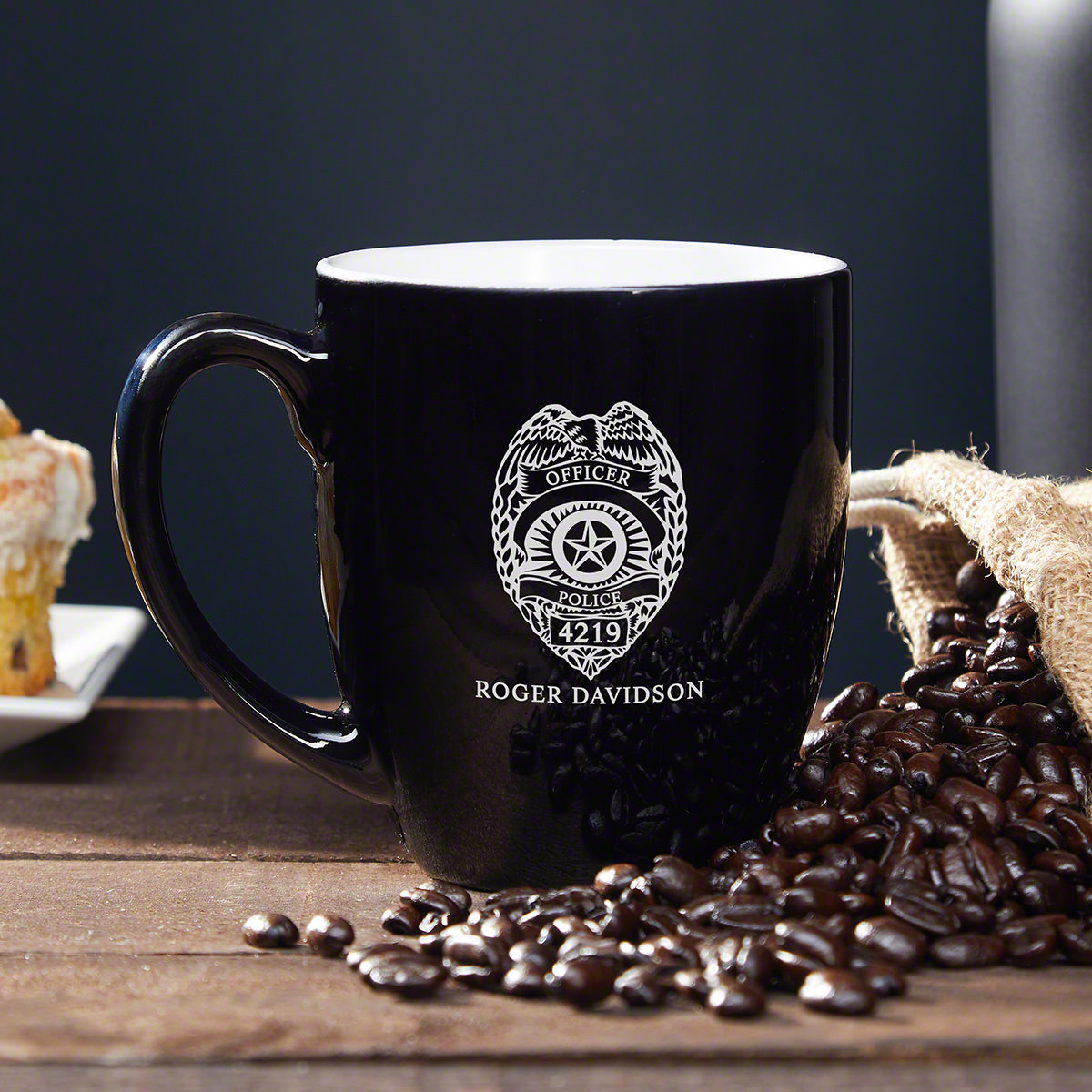 Few professions need to be as alert at all times like those in law enforcement. Our personalized coffee mug is a great gift for police officers so they can be sure to never miss a thing. Whether they prefer a cup of tea or their coffee black, this mug wil #mug