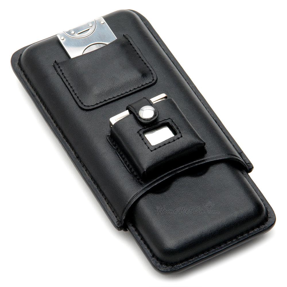 Leather Travel Cigar Case Gift Set