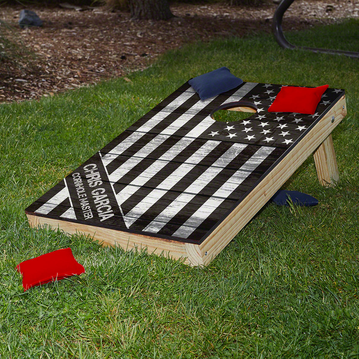 American Heroes Custom Cornhole Board Set - Military Gift