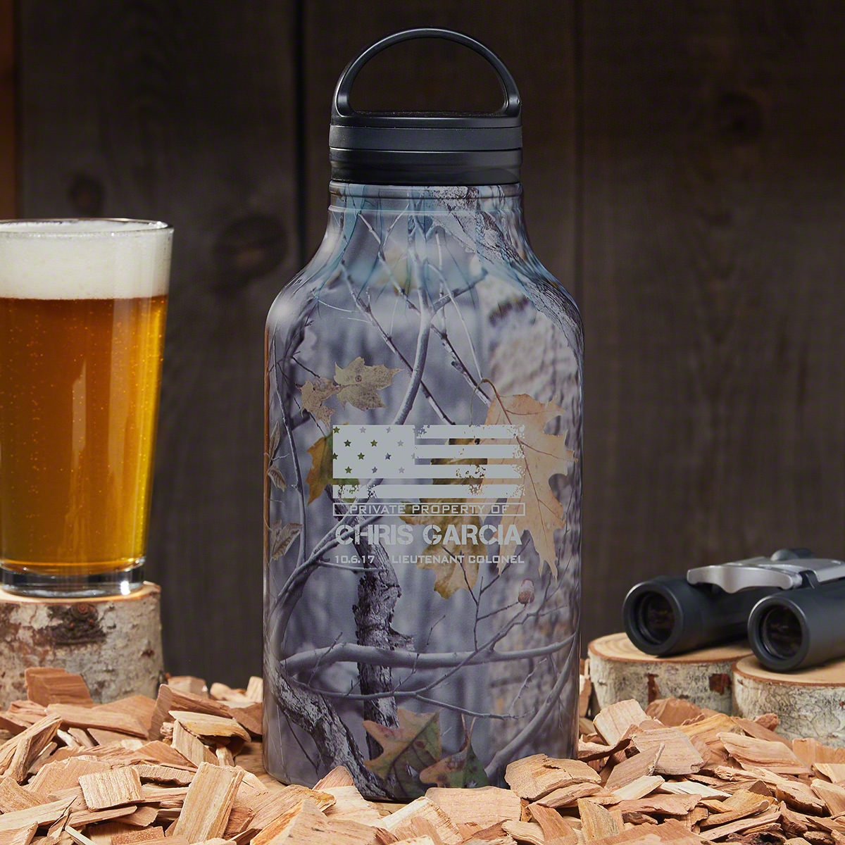 American Heroes Custom Camo Growler – Military Gift Idea