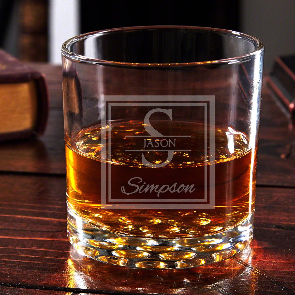 Oakhill Buckman Engraved Whiskey Glass