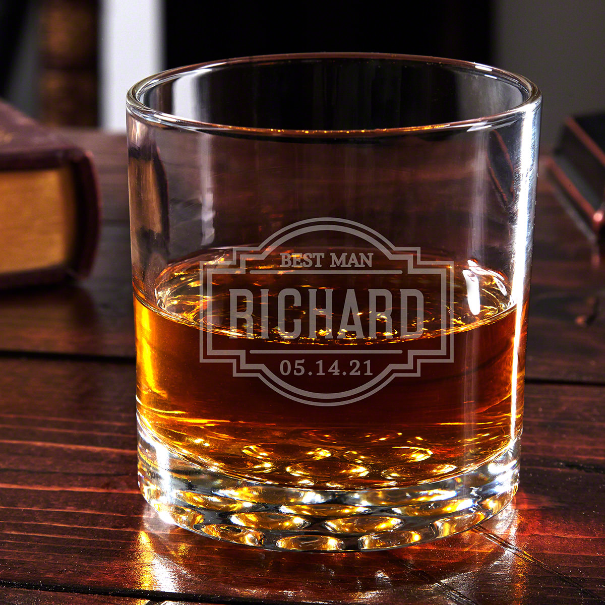 Fremont Buckman Custom Whiskey Glass