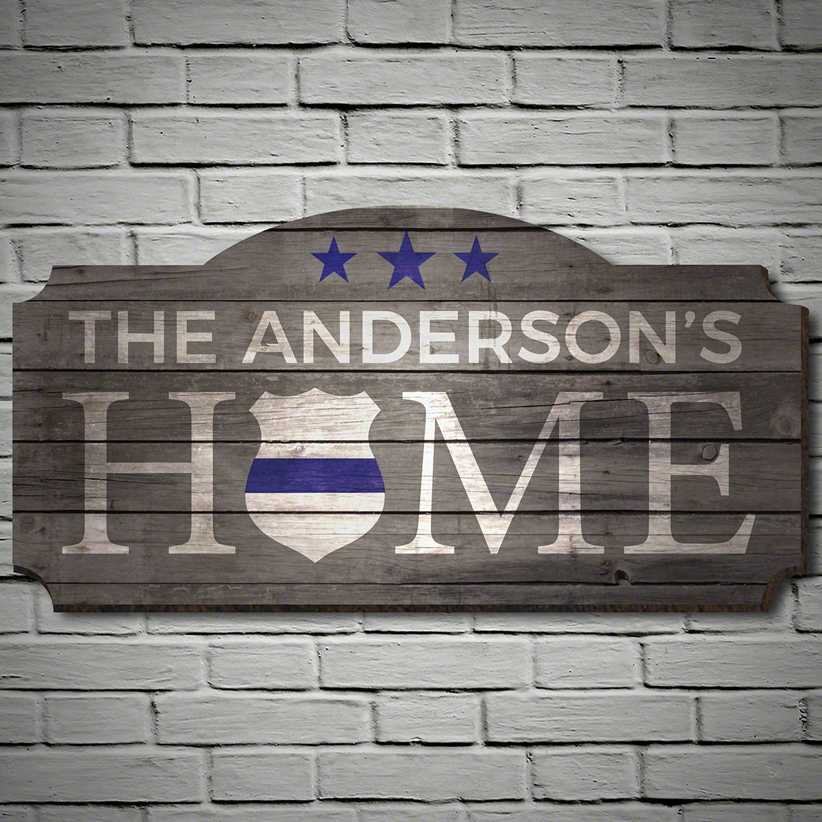 Blue-Shield-Traditions-Personalized-Sign-e28093-Gift-for-Police-Officers
