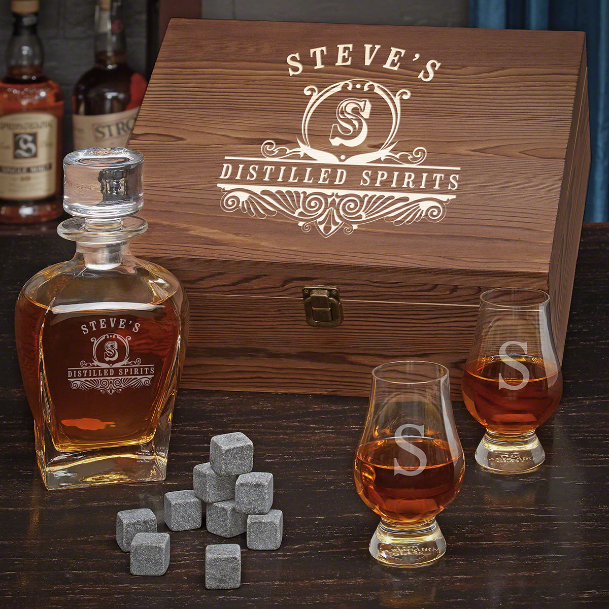 Carraway Custom Scotch Gift Set with Glencairn Glasses