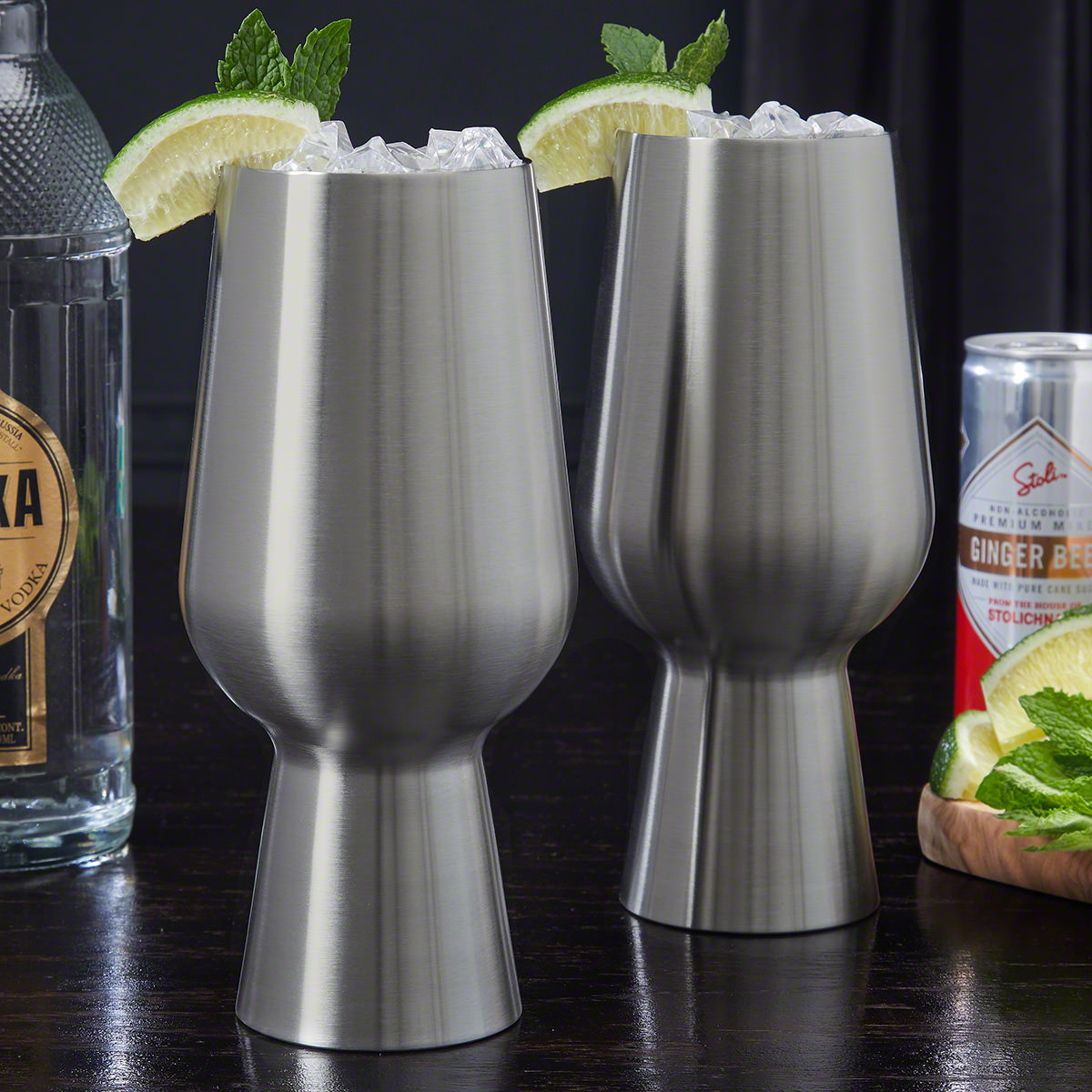 Stainless-Steel-Cocktail-Glasses