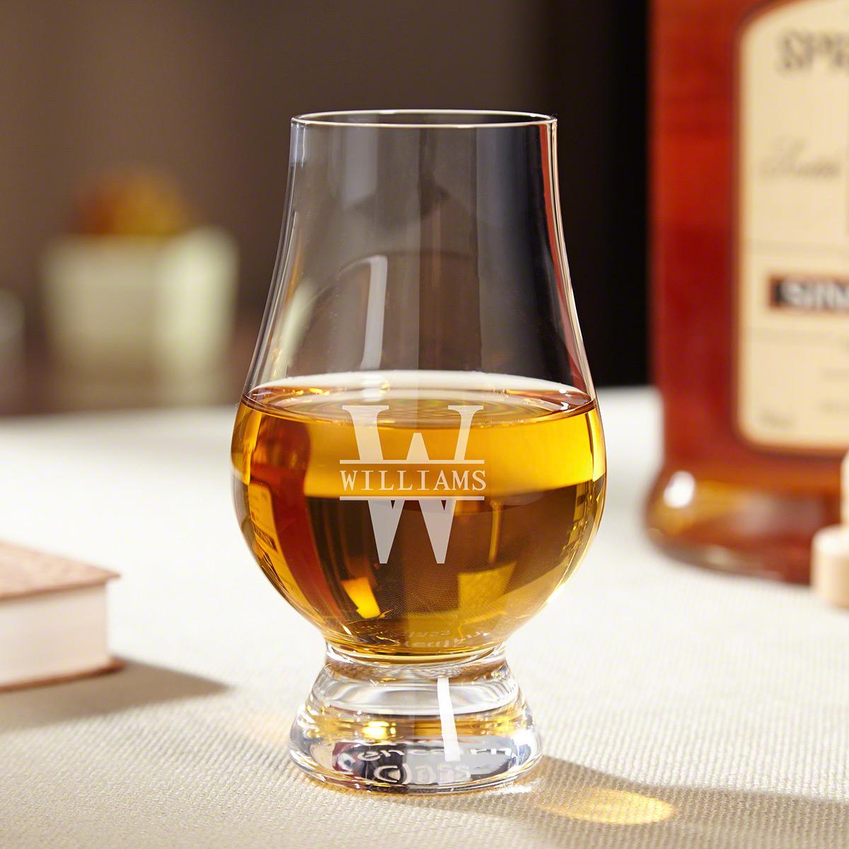 Oakmont Personalized Glencairn Whiskey Glass