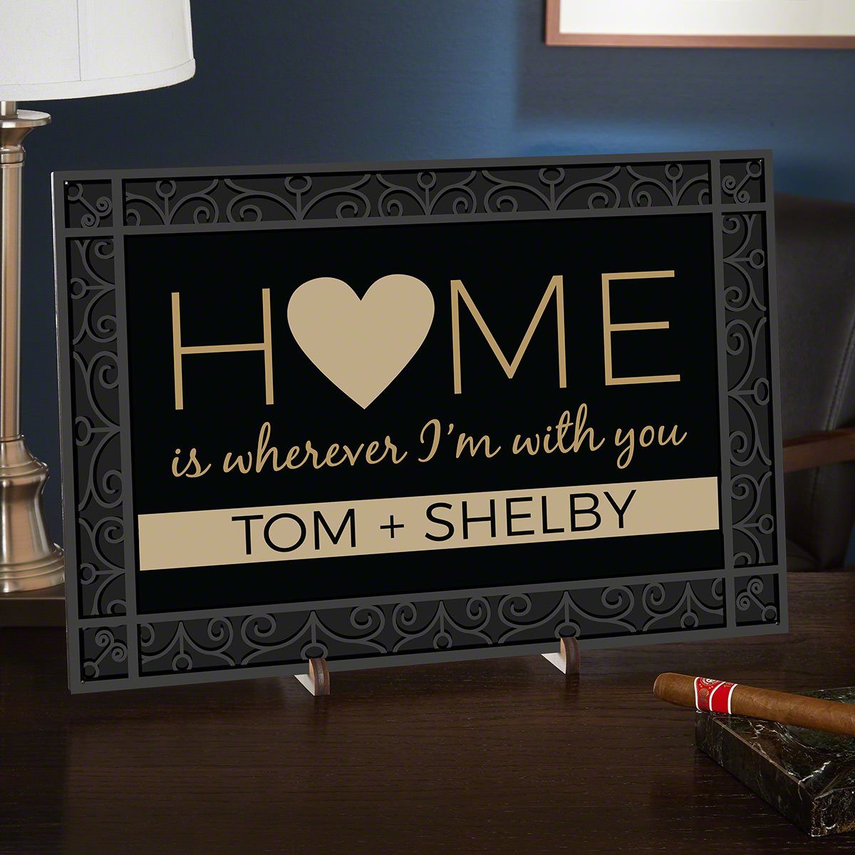 Home Is Wherever I'm With You Personalized Home Decor Sign