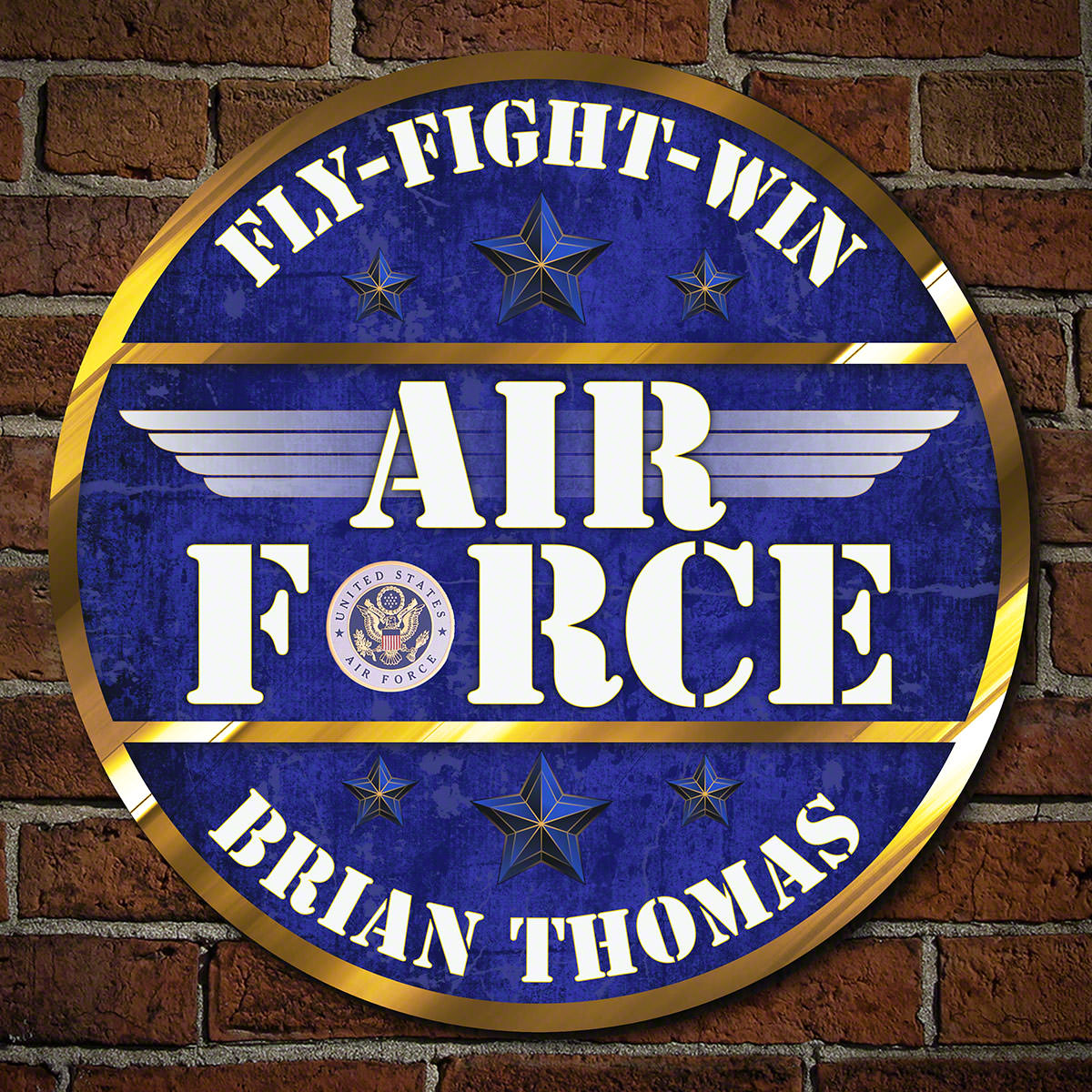 Fly Fight Win Air Force Personalized Military Sign
