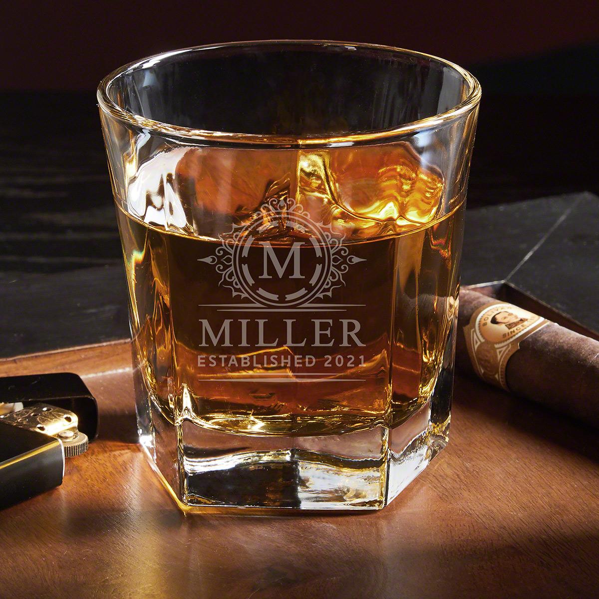 Hamilton Colchester Engraved Whiskey Glass