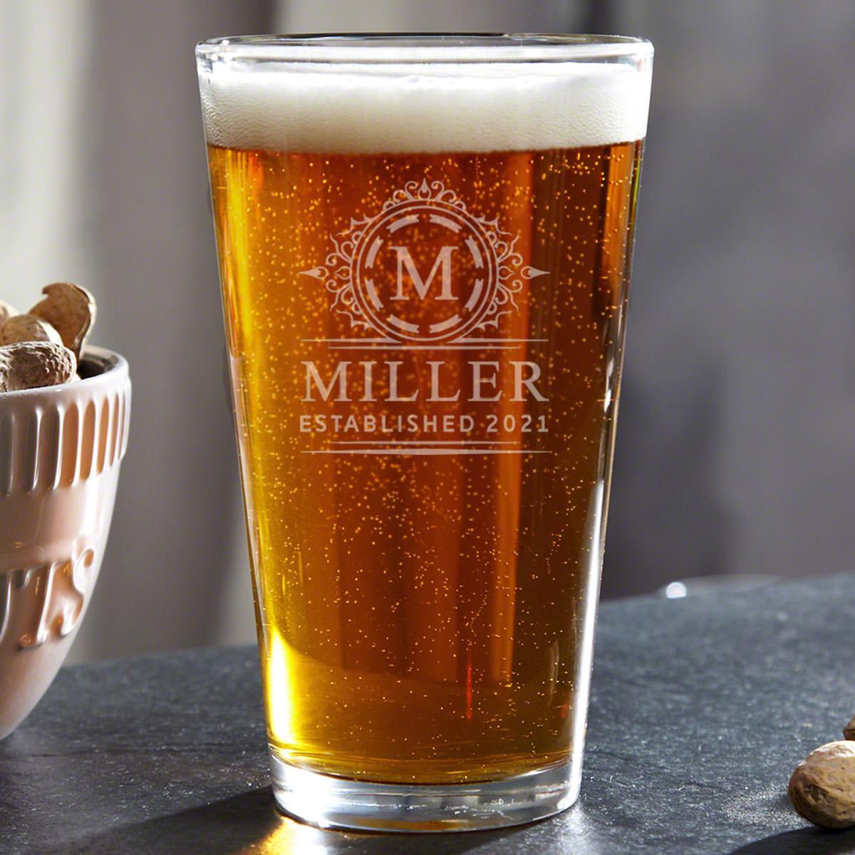 Hamilton Personalized Pint Glass