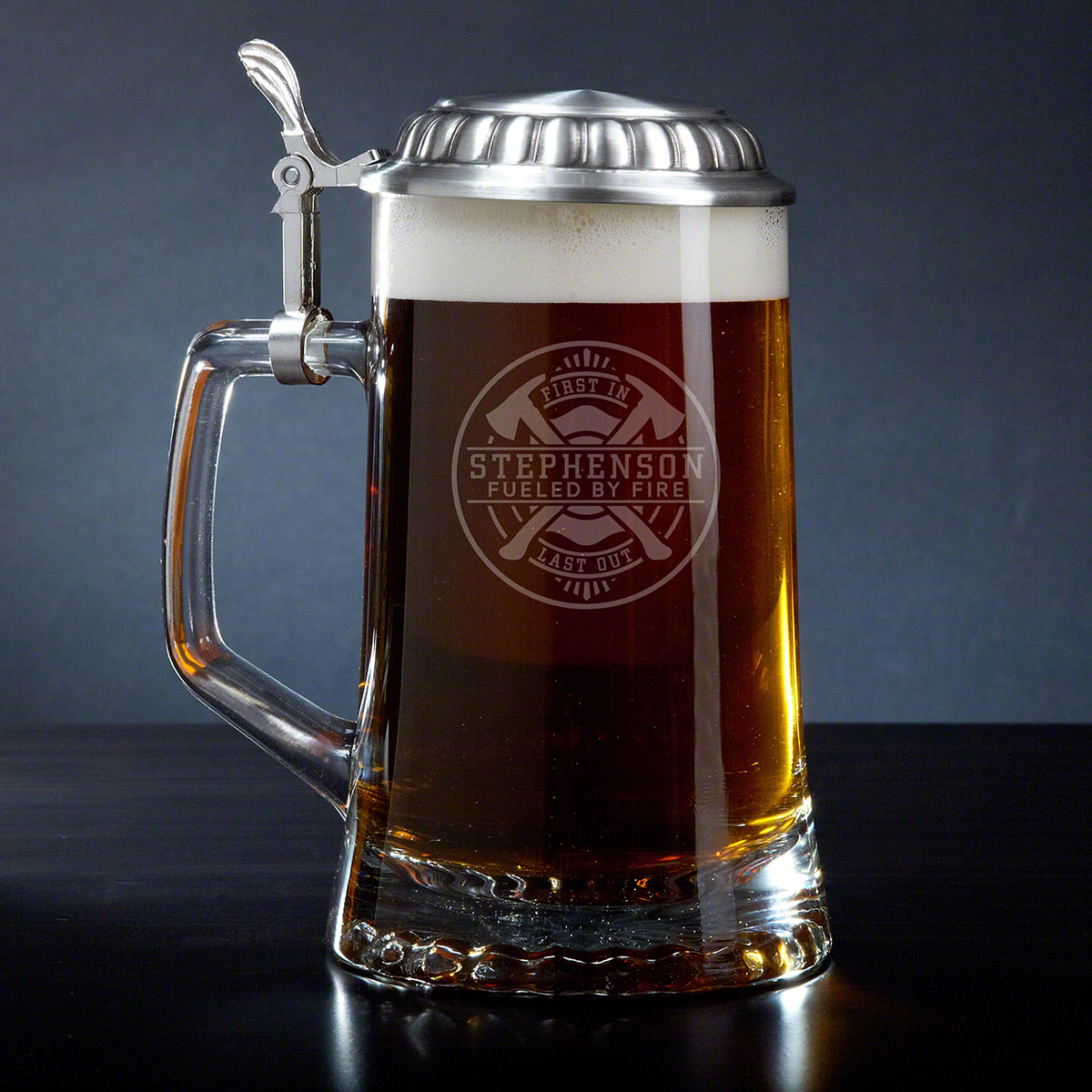 Firefighter Brotherhood Personalized Beer Stein Fireman Gift