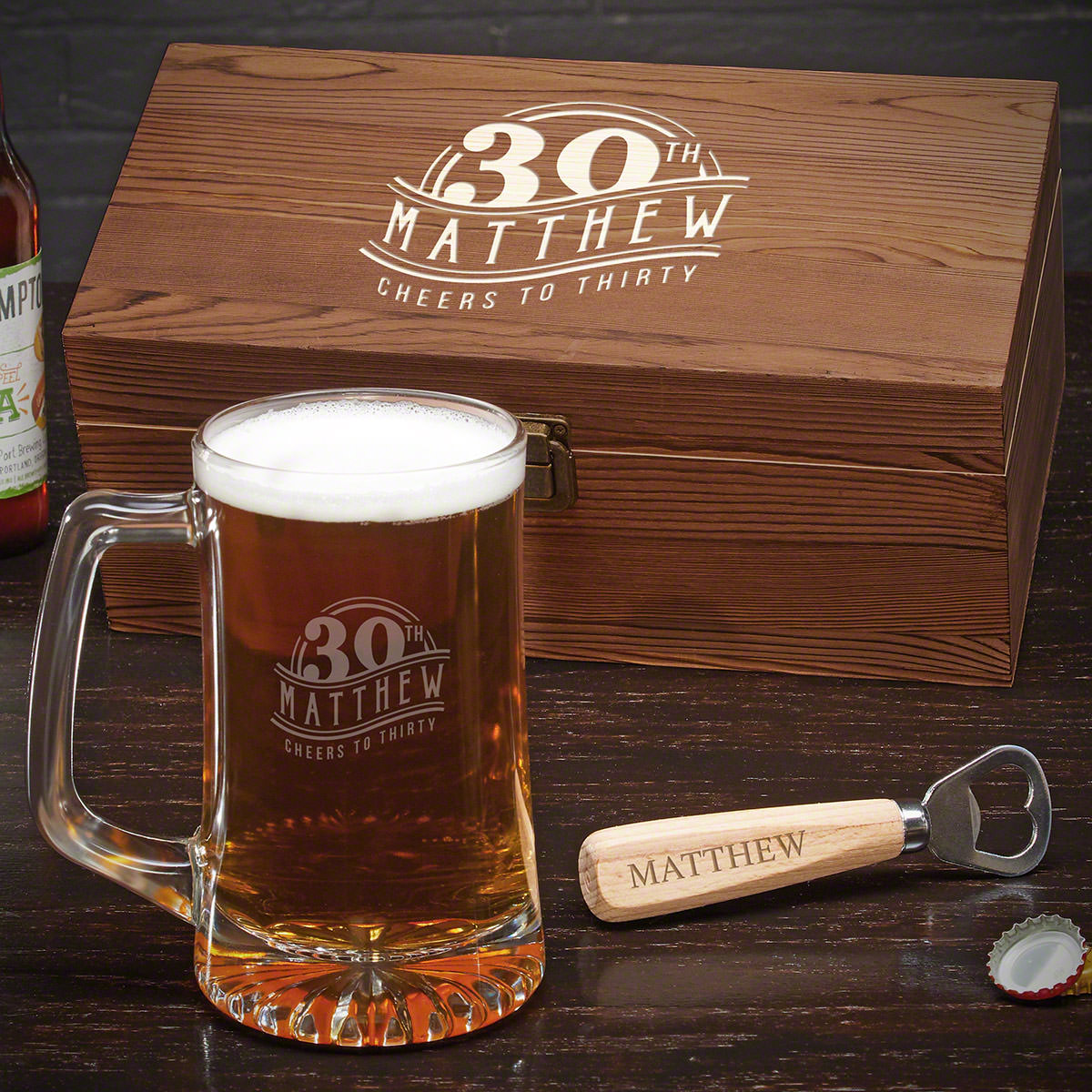 The Big 3-Oh Customized Beer Mug Set 30th Birthday Gift Ideas