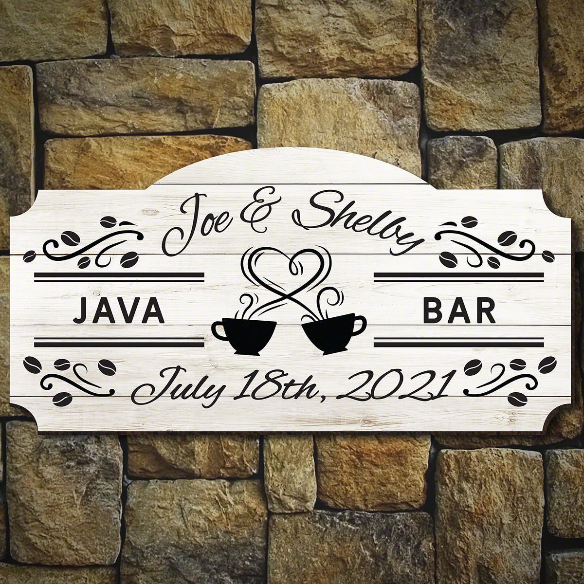 The Perfect Blend Personalized Coffee Bar Sign for Weddings