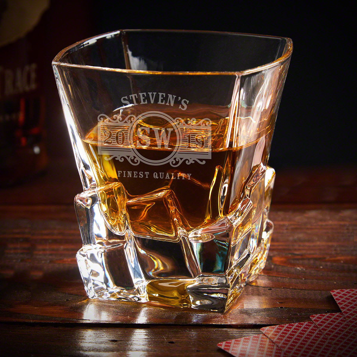 Marquee Iceburg Personalized Whiskey Glass