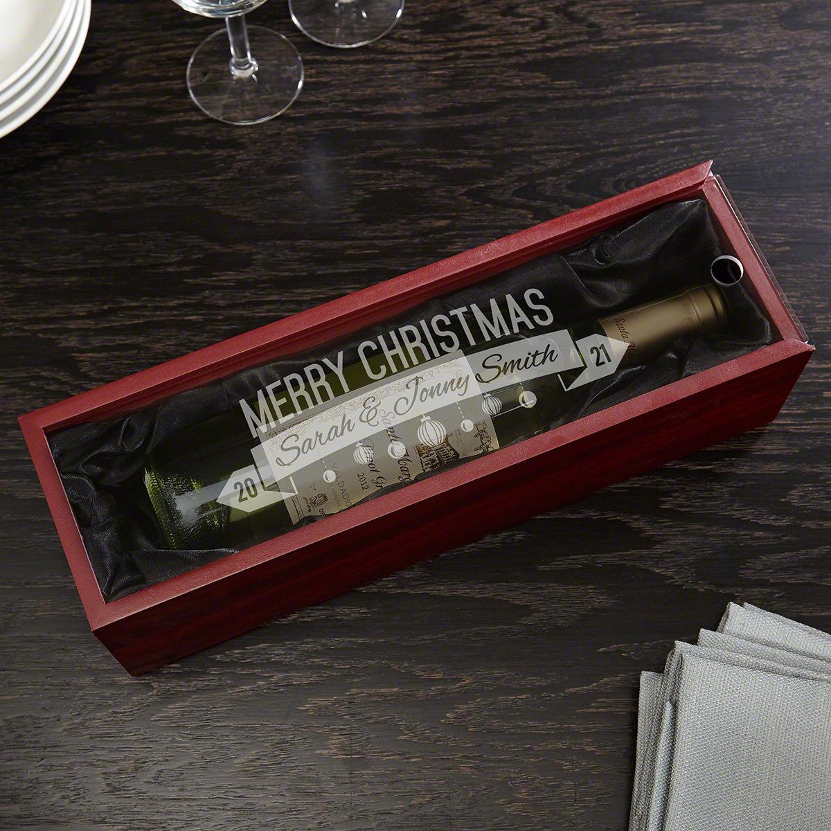 Pinot Noel Custom Christmas Wine Gift Box