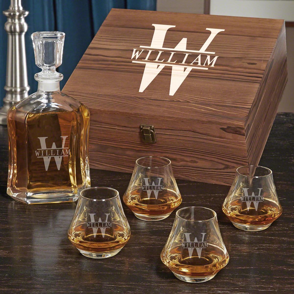 Oakmont DiMera Personalized Argos Decanter Whiskey Gift Set
