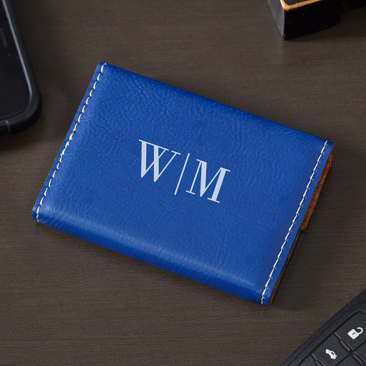 Quinton-Engraved-Blue-Leather-Business-Card-Holder