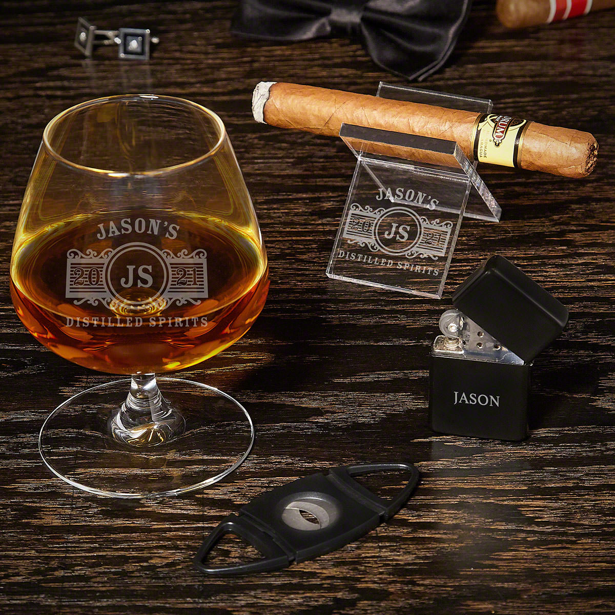 Marquee Engraved Brandy and Cigar Gifts