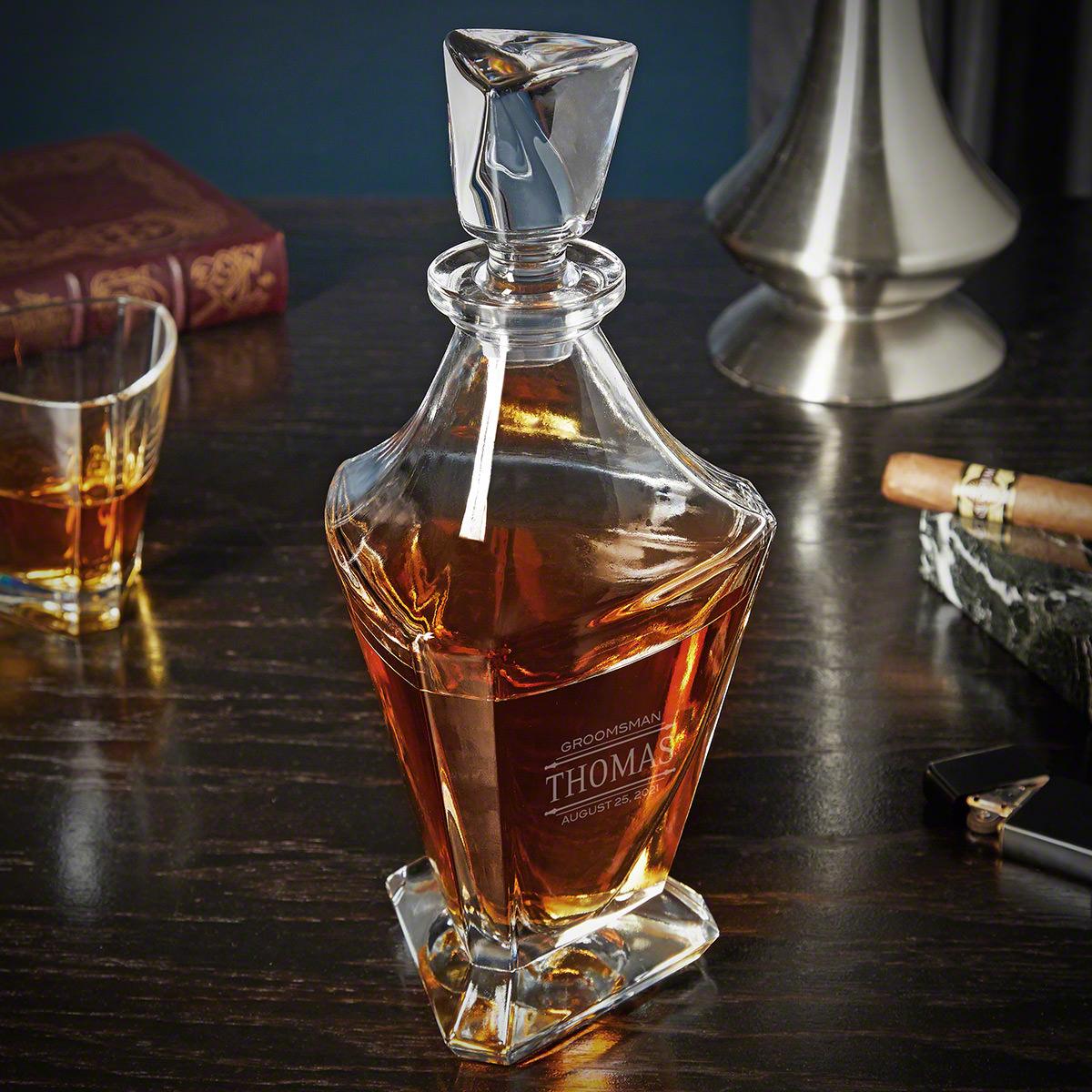 Stanford Customized Bishop Whiskey Decanter