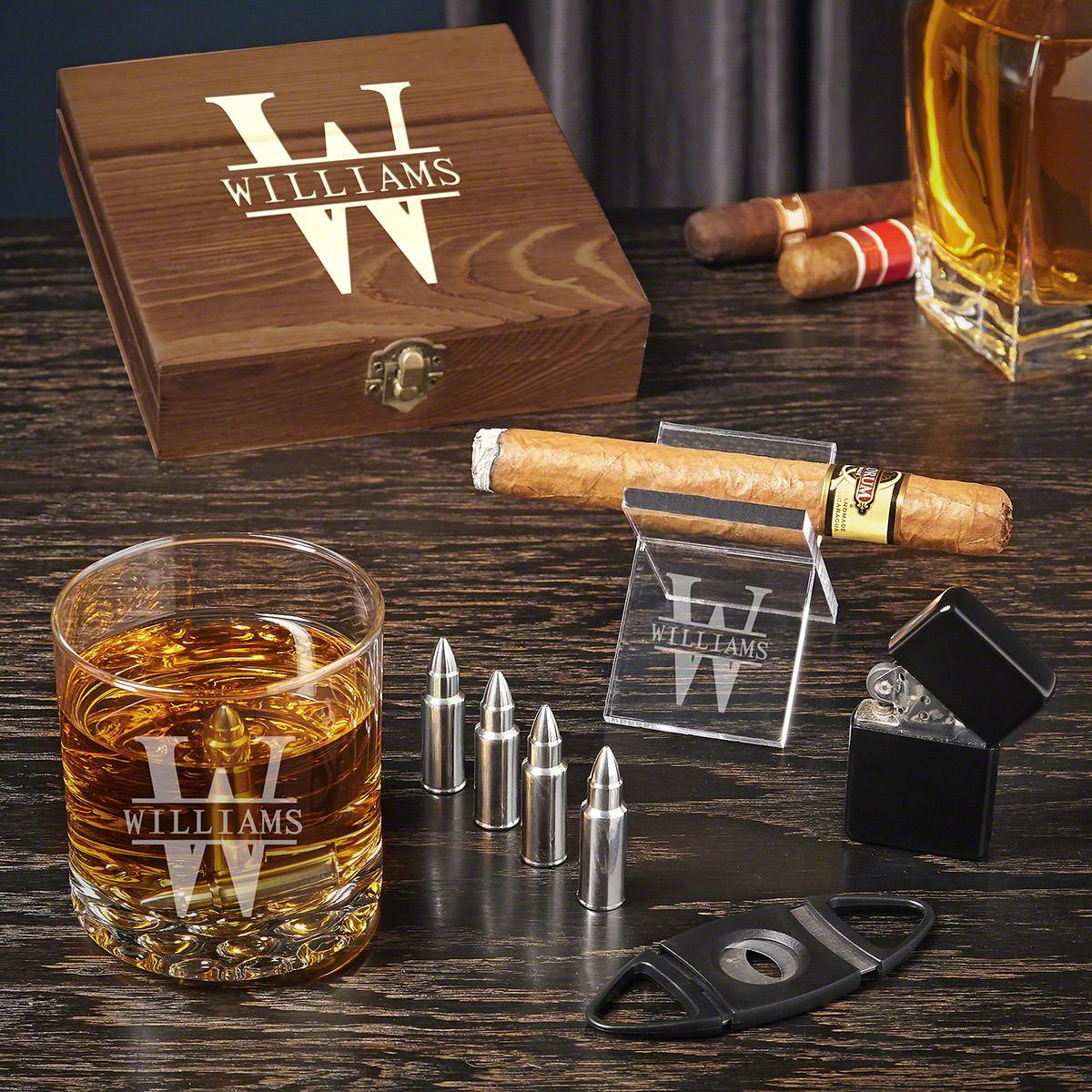 Make My Day Oakmont Custom Whiskey and Cigar Gift Set