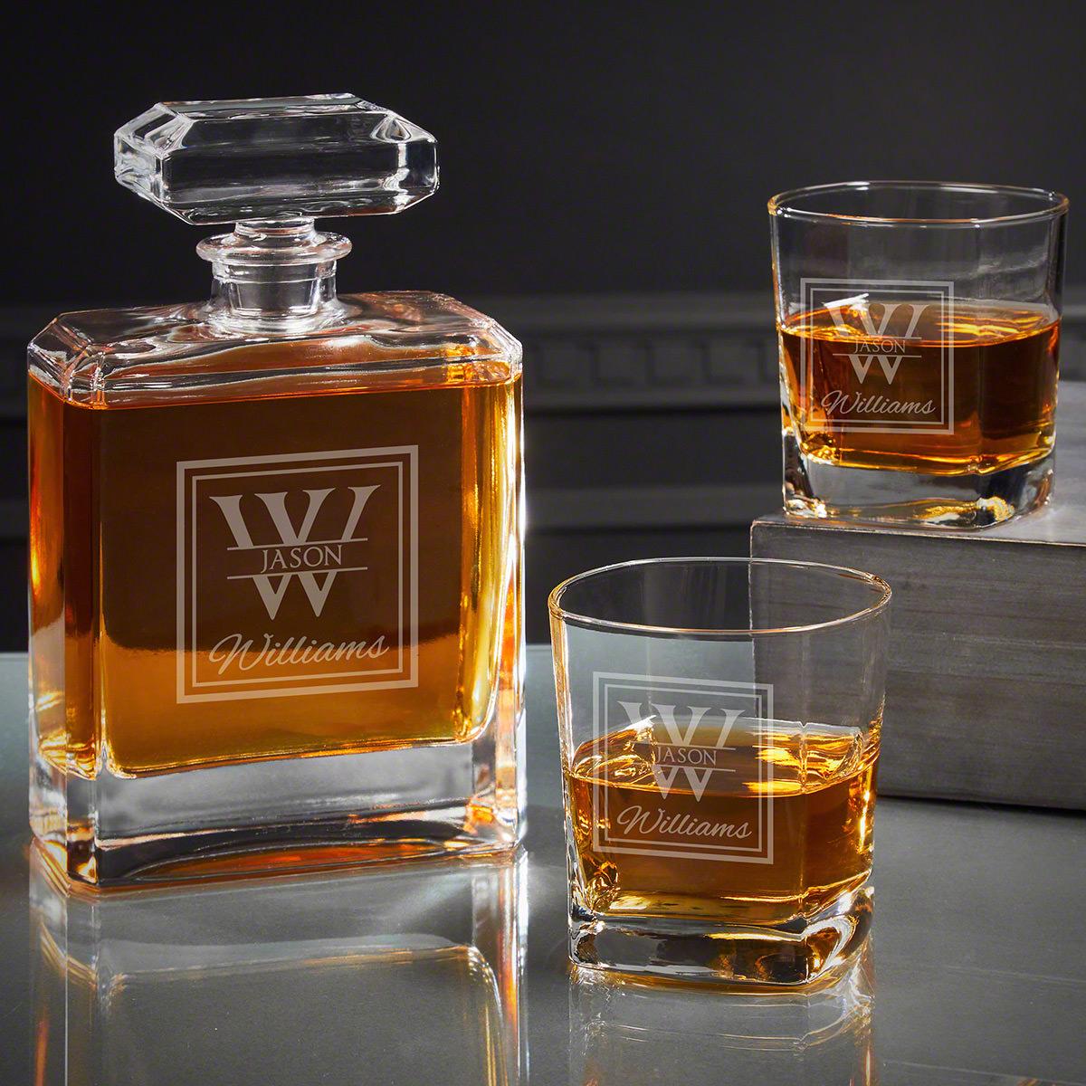 Oakhill Custom Cromwell Whiskey Decanter Set